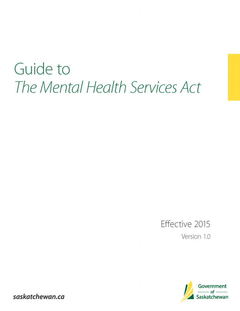 Guide to The Mental Health Services Act