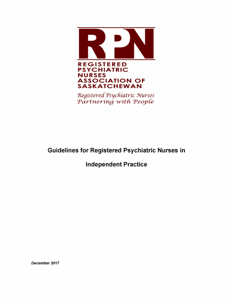 Guidelines for independent practice